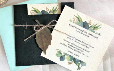 Autumn Leaf Wedding Invitations