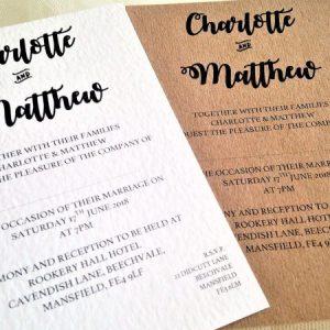 Couples Names Wedding Invitations