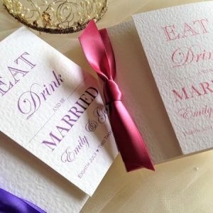 Eat Drink and Be Married Gatefold Invites