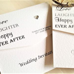 Love Laughter Tri Fold Wedding Invites