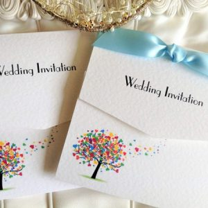 Love Tree Tri Fold Wedding Invites