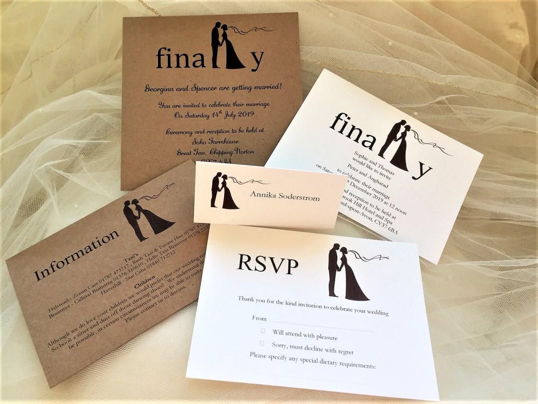Finally Postcard Wedding Invitations