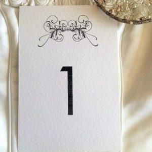 Art Deco Table Name and Table Number Cards