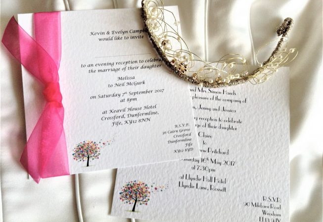 Love Tree Square Flat Wedding Invitations