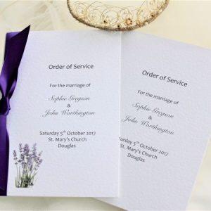 Small Lavender Order of Service Books