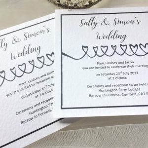 Linked Hearts Wedding Invitations