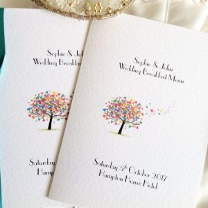Love Tree Menu Booklets