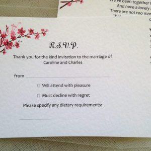 Cherry Blossom RSVP Postcards