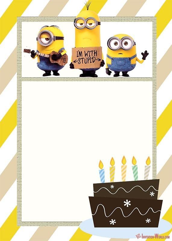 Minion Birthday Invitation Template Invitation World