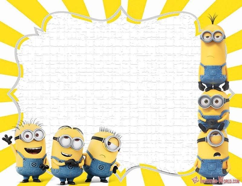 minion invitation design invitation world