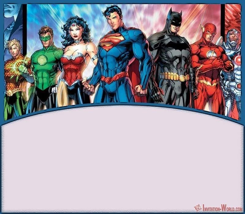 11 superheroes invitations templates