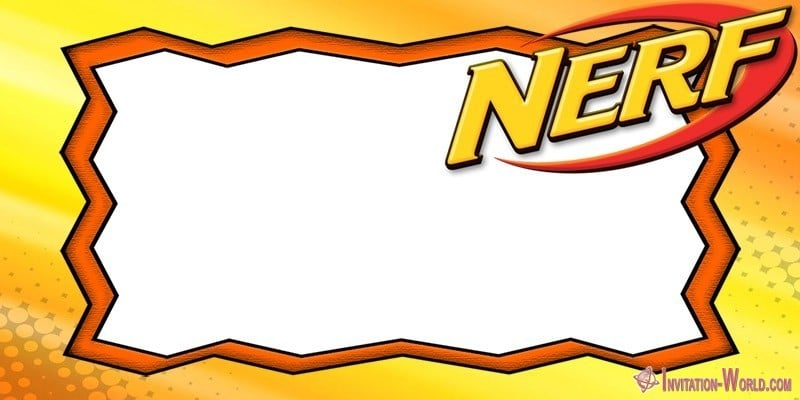 nerf party invitations 5 free
