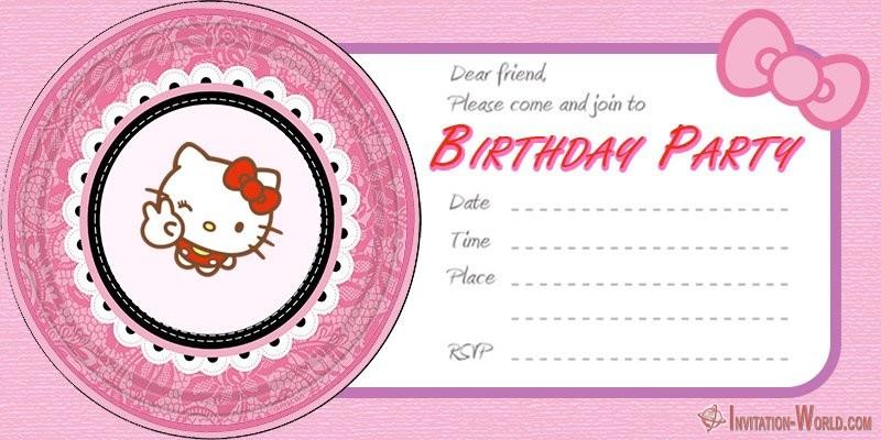 hello kitty invitations free
