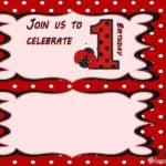 free printable ladybug invitation