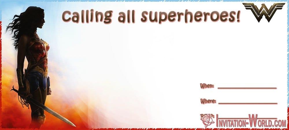 free editable wonder woman invitation