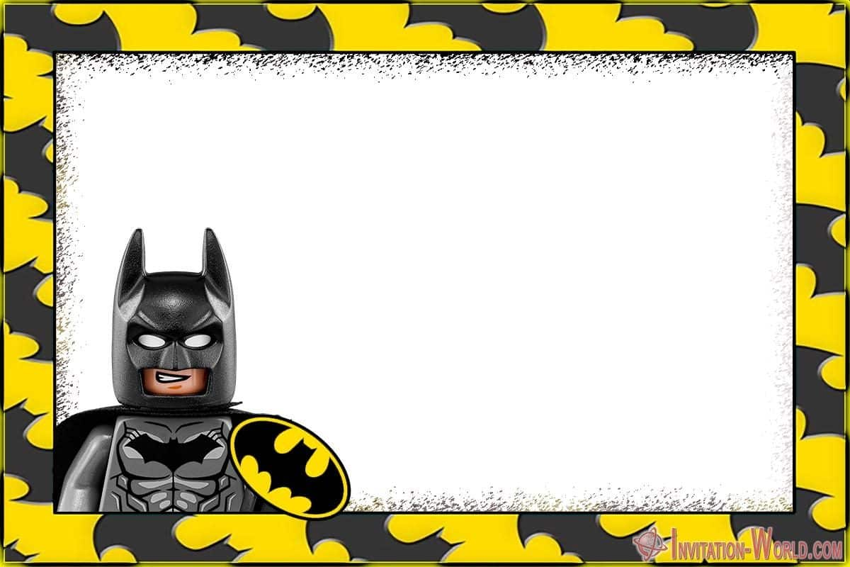 free printable batman invitation