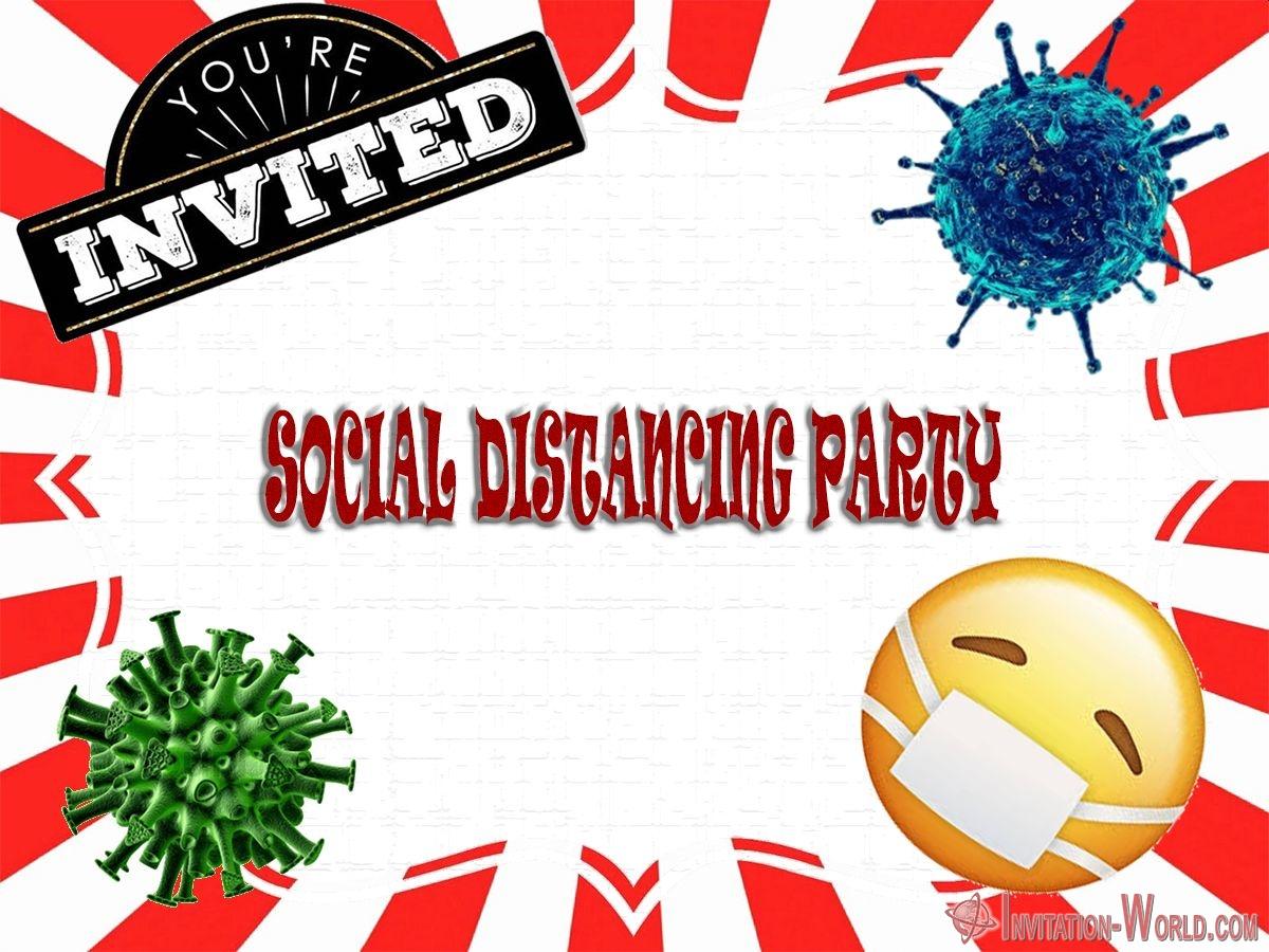 social distancing party invitation