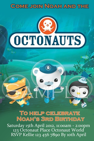 octonaut invites invitations 4 kids