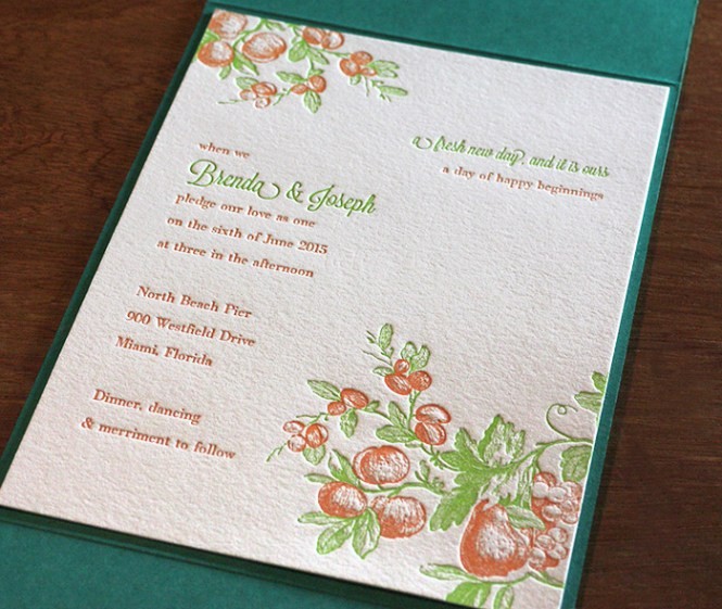 Great Yellow Fuchsia Pink Orange And White Tropical Beach Theme Wedding Invitations With