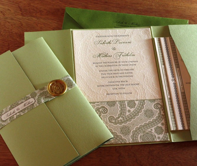 Customizing Your Letterpress Wedding Invitation Oversized