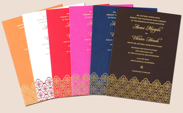 Indian Color Wedding Invitation Design Spread