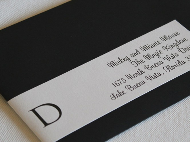 Custom Printed Envelope Wrap Around Labels Wedding