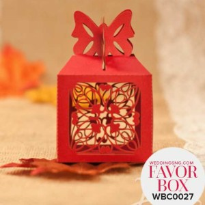 Delicate Butterfly Favor Boxes WBC0015 for occasions and events at invitationcards.ng