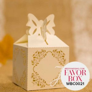 Elegant Pearl Laser Cut Wedding Favor Boxes WBC0021 for occasions and events at invitationcards.ng