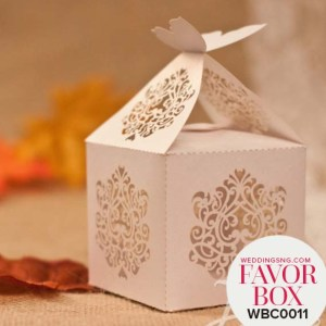 Graceful Butterfly Laser Cut Wedding Favor Boxes WBC0011 for occasions and events at invitationcards.ng