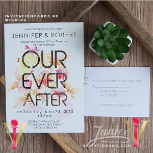 Flat Laser Cut Invitation Card WFL0102 is now available at invitationsng.com. Call 08173093902