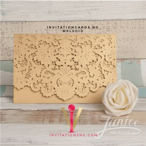 Embossed Floral Lace Invitation Card WPL0011 is now available at invitationsng.com. Call 08173093902