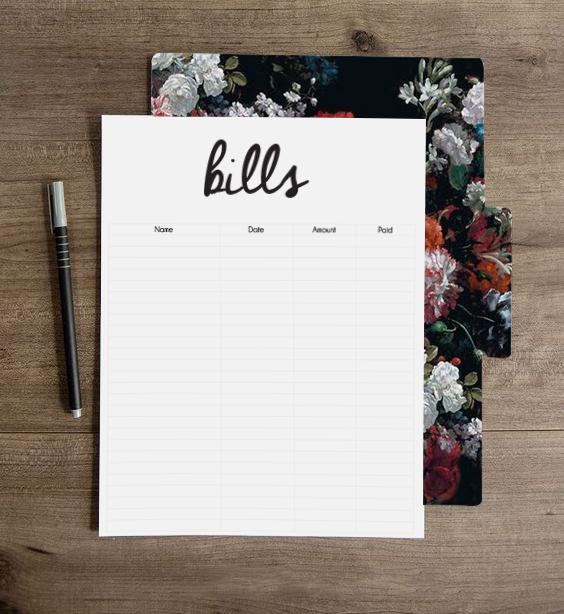 Tips & Tricks: FREE Downloadable Bill Checklist