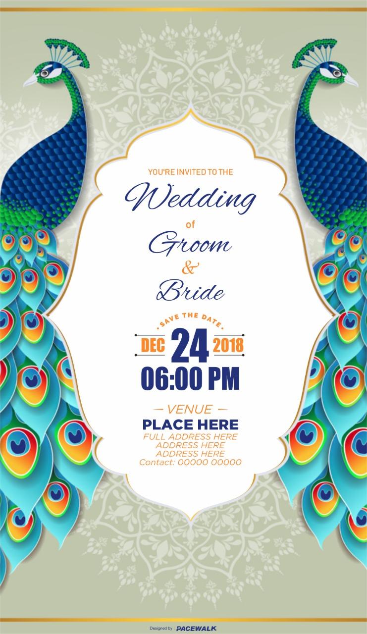 indian wedding invitation card online