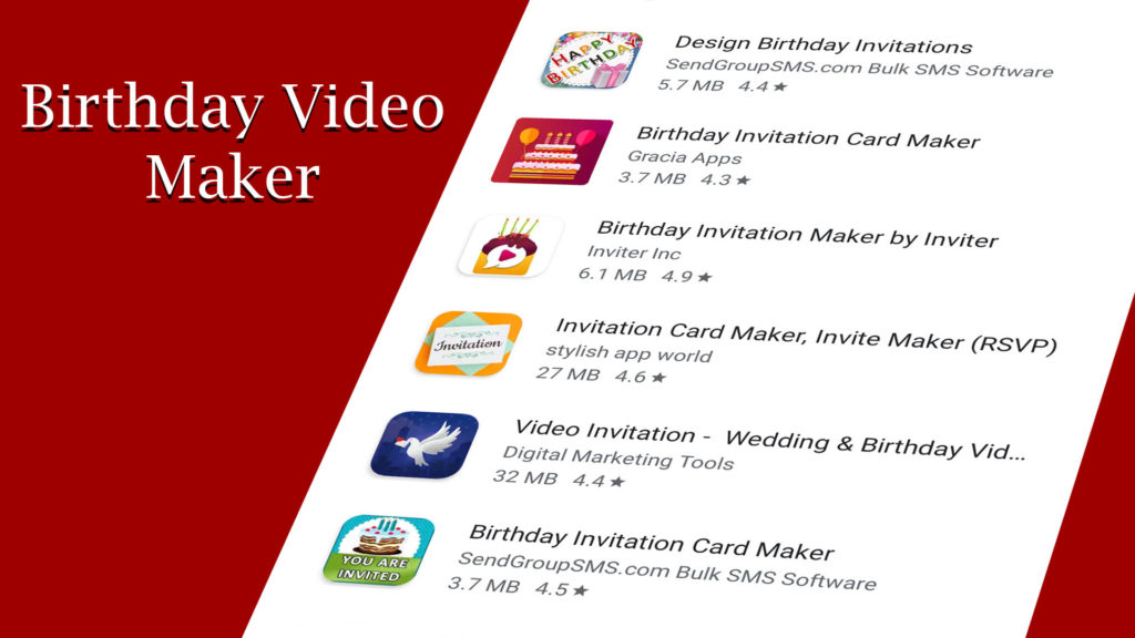 birthday video maker android apps