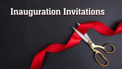 inauguration invitation video online