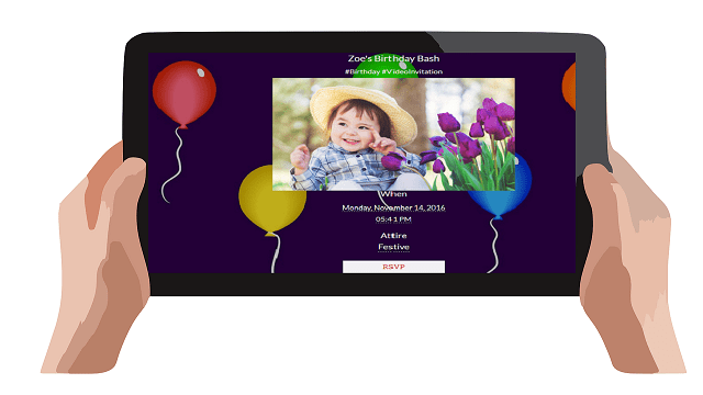 video invitations and video greetings