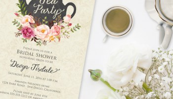 Tiffany tea party bridal shower invitation bridal shower tea party invitation filmwisefo Images