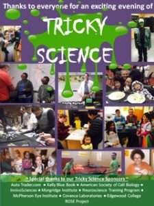 Tricky Science collage with sponsors