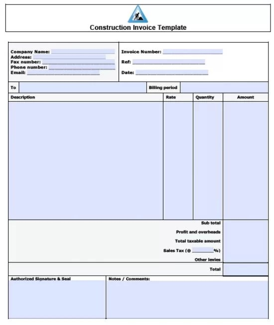 carpenter invoice template. cna resume samples with no experience, Invoice templates