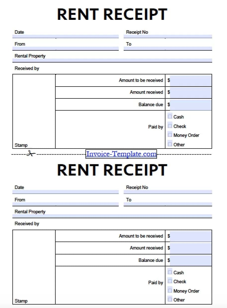 House Rental Receipt Template printable cash receipts house – Rental Reciepts