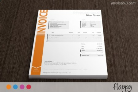 HTML Invoice Templates IT Services Invoice Template Floppy