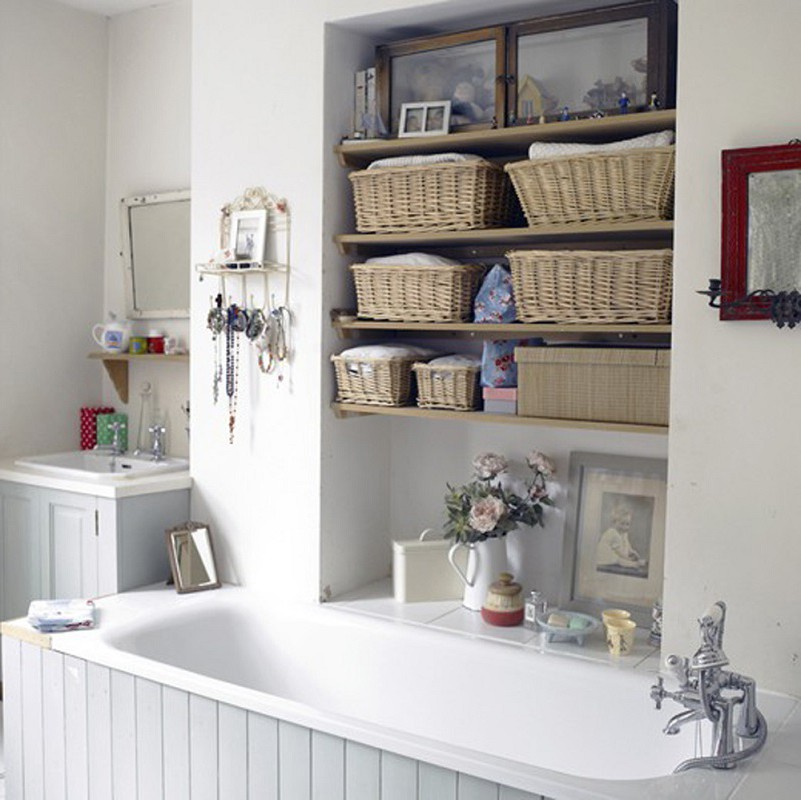 bathroom shelves - beautiful and easy diy bathroom shelving ideas