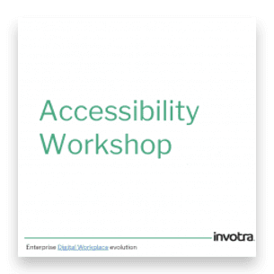 Accessibility workshop presentation first page
