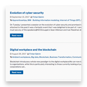 Invotra blogs snippets