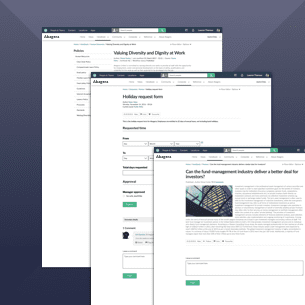Content types such as news, webforms and manuals