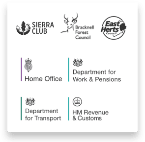 Government department and local authority customer logos