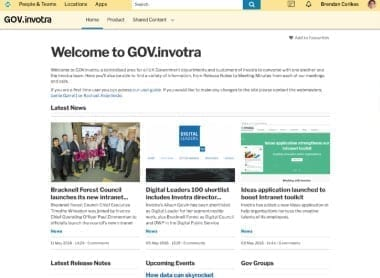 Gov.invotra, a pangov intranet site