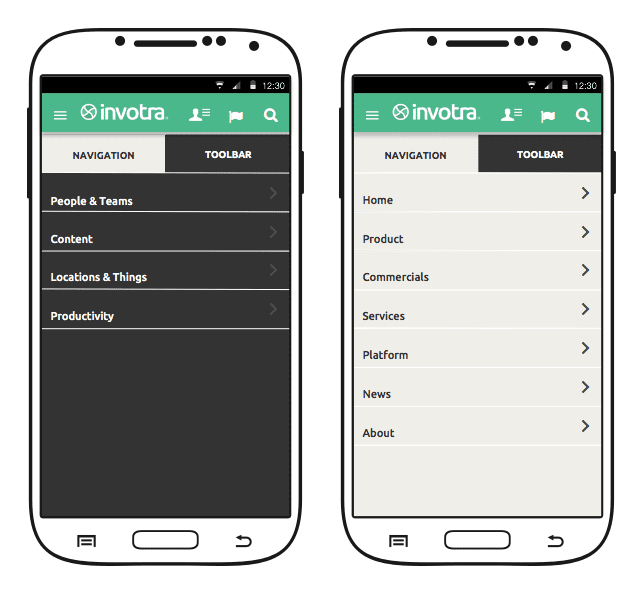 The Invotra mobile app