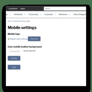 Mobile branding settings