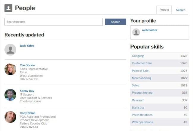 find people invotra screenshot